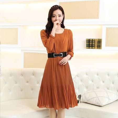 mssefn2015春季新款时尚甜美连衣裙女士长袖春装女裙2157066-3173-2