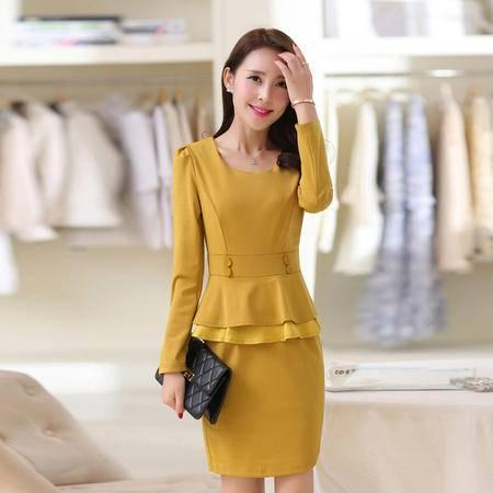 mssefn2015春装新款 OL时尚女装 两件套修身连衣裙405