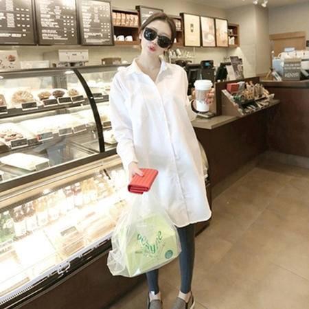 Mssefn2015新款春装超舒适定制面料韩版宽松长袖衬衫8418-1037