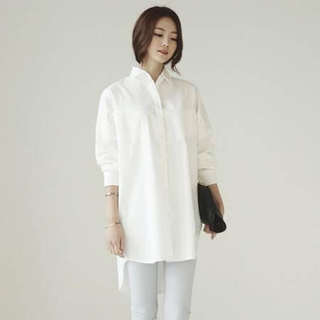 Mssefn2015春季新款女士韩版潮流时尚蕾丝拼接长袖衬衣 8309A-C676