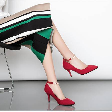 Mssefn2015春季新款欧美范时尚明星模特 细高跟女单鞋LRP-666-5
