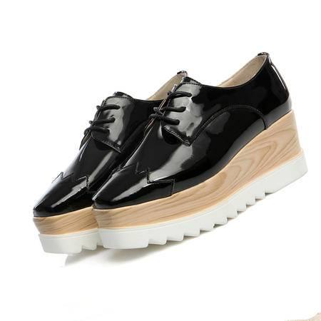 Mssefn2015年春季新款欧美新品 真皮 牛皮 松糕鞋 女鞋WZ30-W5233
