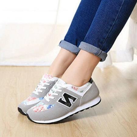 Mssefn2015新款潮韩N字鞋 学院风女生休闲慢跑鞋 WZ4-802P58
