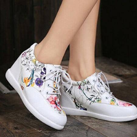 mssefn2015春 欧美新款 隐形内增高休闲女鞋WZ4-A222