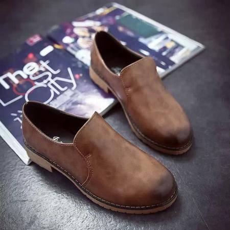 Mssefn2015春季新款LS复古英伦女鞋 擦色单鞋1026