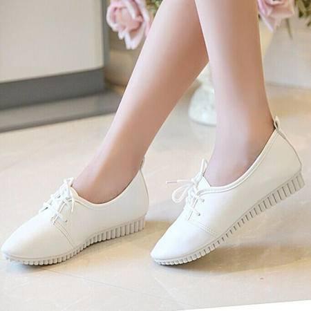 Mssefn2015新款潮韩 时尚 低帮女生 工作户外小白鞋 女鞋WZ4-216