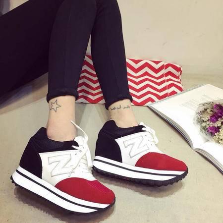 mssefn2015春季新款休闲运动单鞋 内增高休闲鞋单鞋XGG212