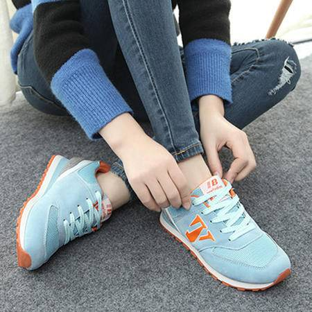 Mssefn2015春新款韩版潮流N字鞋 学院风低帮慢跑鞋女WZ2-666