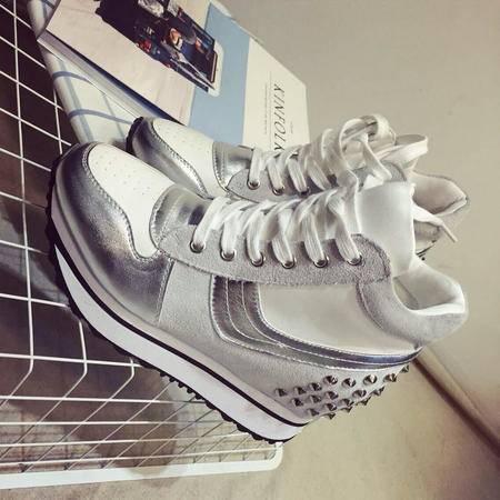 Mssefn2015春季新款休闲运动单鞋 内增高休闲鞋单鞋XGG230