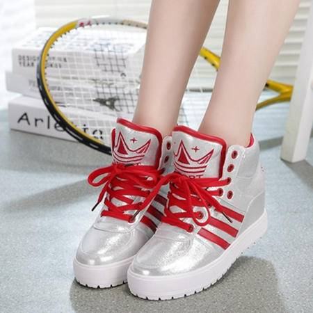 Mssefn2015春季新款厚底内增高韩版 学院风 高帮女单鞋 WZ22-627
