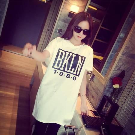 Mssefn2015新款韩版宽松字母短袖t恤女E3201