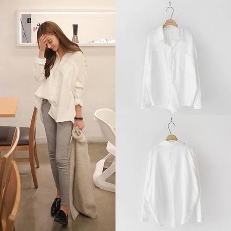 Mssefn2015韩版宽松纯色衬衫8309-C003