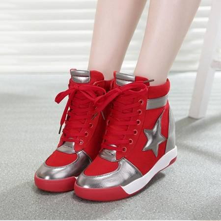 Mssefn2015春 牛皮真皮磨砂 内增高  英伦 休闲女鞋 WZ17-F12