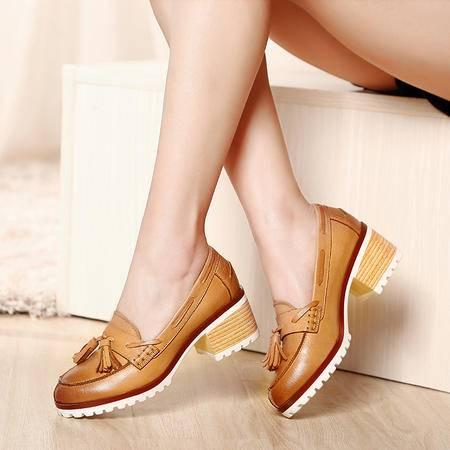 Mssefn2015春款 高端 精品 复古真皮女鞋 帆船鞋 WZ18-N1516-1