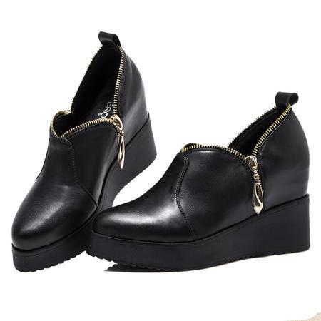 Mssefn2015春季欧美新款 内增高 尖头女单鞋WZ30-1501