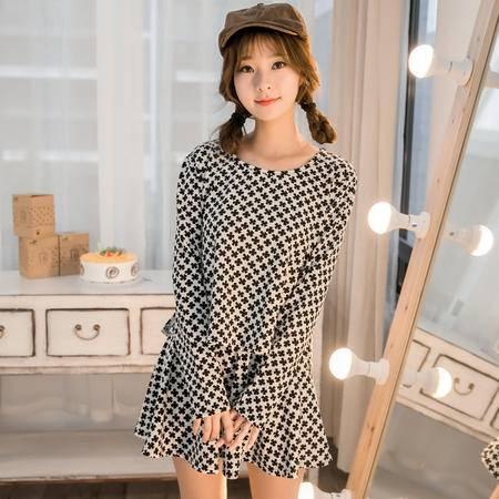Mssefn2015春夏季新款韩版可爱时尚运动休闲套装女8233-6587