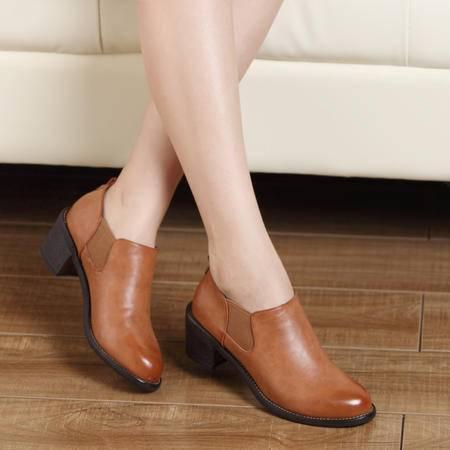 mssefn2015春款欧洲英伦新品松紧鞋口低帮女鞋 DR-8517