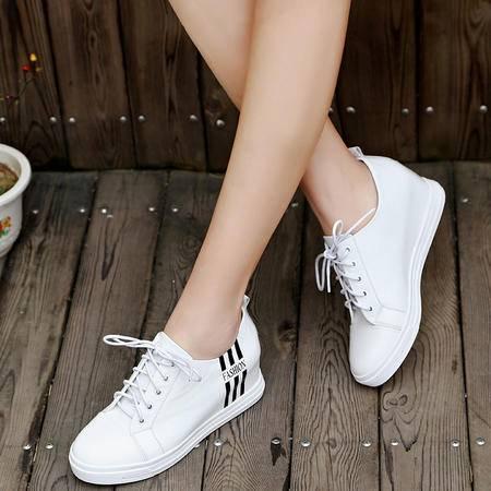 Mssefn2015春款 高端内增高 真皮女鞋WZ18-N636-10
