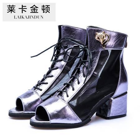 Mssefn2015 欧美 时尚模特 新品 专柜同步款 高帮女凉鞋 DS15-A6922