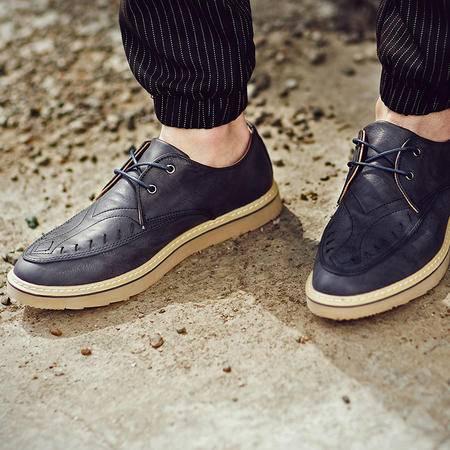 Mssefn2015春夏款 韩版休闲鞋 特色走线皮鞋XZ205-1856