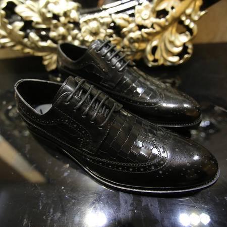 Mssefn2015欧美时尚拼色鳄鱼纹系带潮流皮鞋B386/295-5