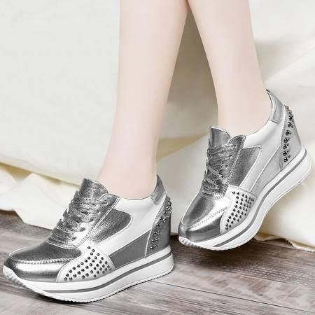 Mssefn2015春季新品 潮韩 厚底 铆钉低帮女鞋DS12-8145