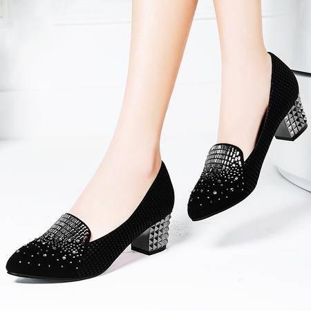 Mssefn2015春款 欧美意大利 新品 烫钻 时尚 女单鞋 DS15-A1625