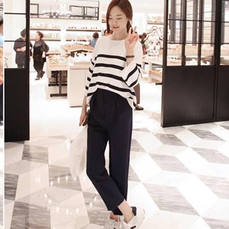Mssefn2015春季韩版新款裤子 后腰松紧休闲裤8418-1043