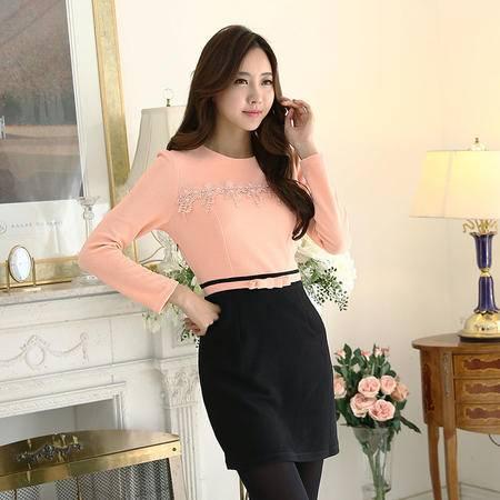 Mssefn2015春装新款气质修身显瘦时尚韩版百搭连衣裙1003