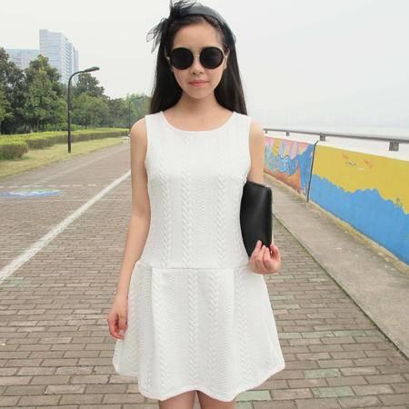 Mssefn2015春装新款 高端时尚背心连衣裙打底裙8101