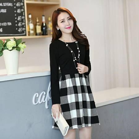 Mssefn2015春季新款韩版长袖连衣裙1242-5