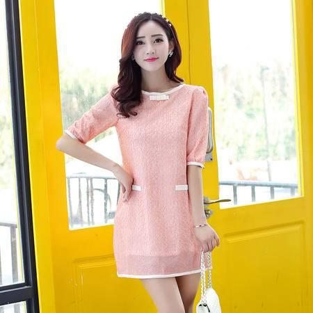 Mssefn2015春季新款时尚韩版女装甜美套头短裙连衣裙3183-1