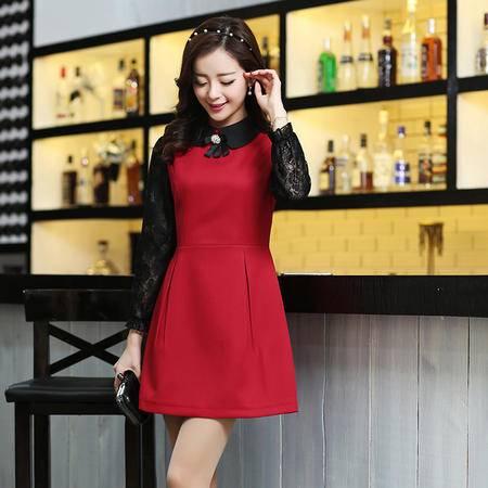 Mssefn2015春季新款时尚韩版连衣裙3180-7