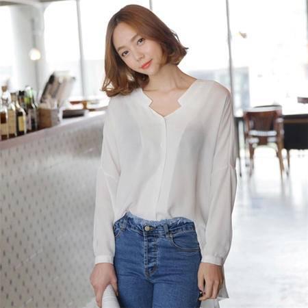 Mssefn2015春夏新款长袖雪纺衬衫1018-CS16