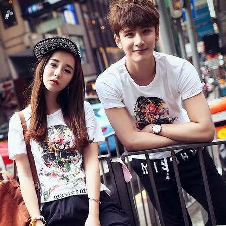 Mssefn2015夏装新款韩版情侣装短袖T恤纯棉打底衫班服Y150