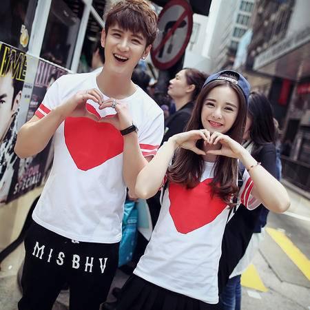 Mssefn2015夏装新款韩版情侣装短袖T恤纯棉打底衫班服Y128