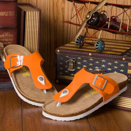Mssefn2015新品缤纷夏季漆皮亮色时尚情侣休闲 沙滩拖鞋 X032