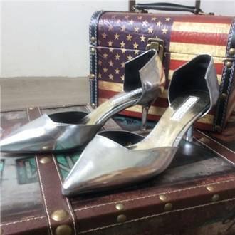 Mssefn2015新品无绑带扣 中跟细脚跟女鞋X519