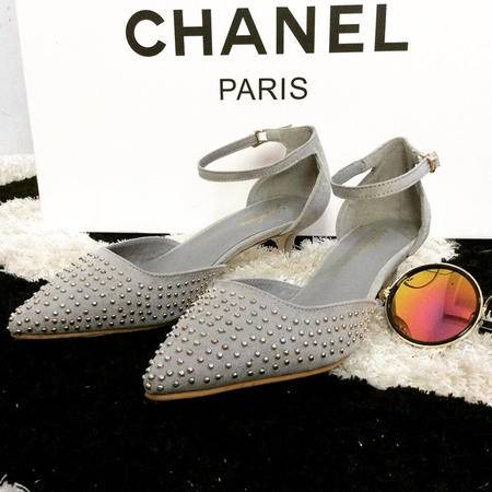 Mssefn2015新品时尚亮珠露脚背女鞋 中细跟鞋532