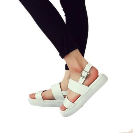 Mssefn2015欧美罗马风格 真皮平跟简约百搭女士超舒适凉鞋WZ30-W5301