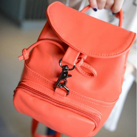 Mssefn2015韩版双肩包女背包学院风新款小包休闲包迷你女包pu皮