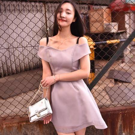 Mssefn2015春夏新款日系VIVI杂志款复古名媛露肩收腰欧根纱蓬蓬裙连衣裙