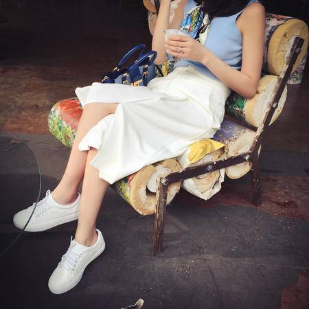 Mssefn2015夏季七分裤女阔腿裤杂志走秀七分高腰阔腿裤 8201A-AK08