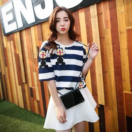 Mssefn2015韩国ulzzang卡通米奇短袖夏装新女装休闲短袖T恤A327-1-T35