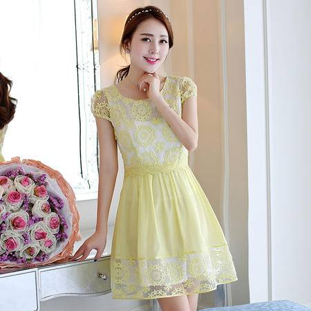 Mssefn2015新款女装短袖蕾丝连衣裙795