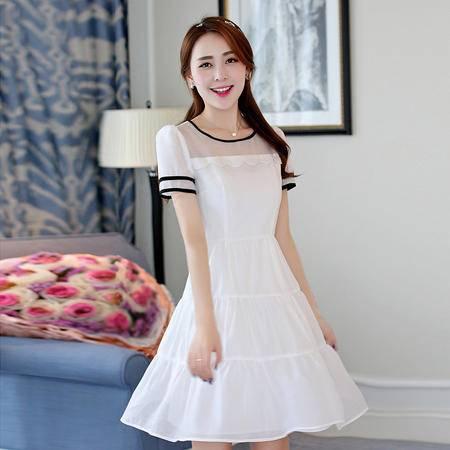 Mssefn2015夏季新款女装修身大摆连衣裙702