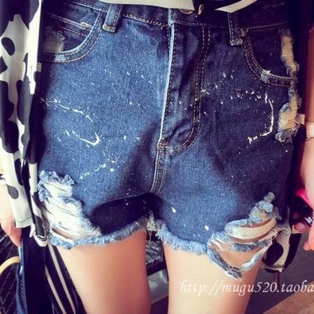 Mssefn2015夏季新款磨破牛仔短裤8309A-K55
