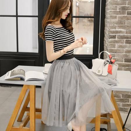 Mssefn2015新款女装一字领多层下摆连衣裙QTDLQY609