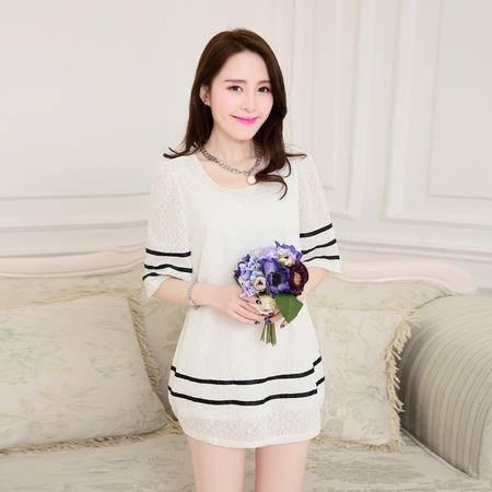 Mssefn2015夏装新款 韩版时尚女装撞色拼接修身连衣裙1103