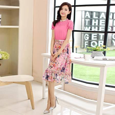 Mssefn2015夏装新款魅力气质连衣裙1217送皮带